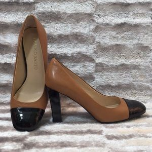6M FRANCO SARTO Brown 3'' Chunky Square Heels